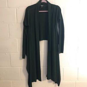 DKNY hi low wool cardigan